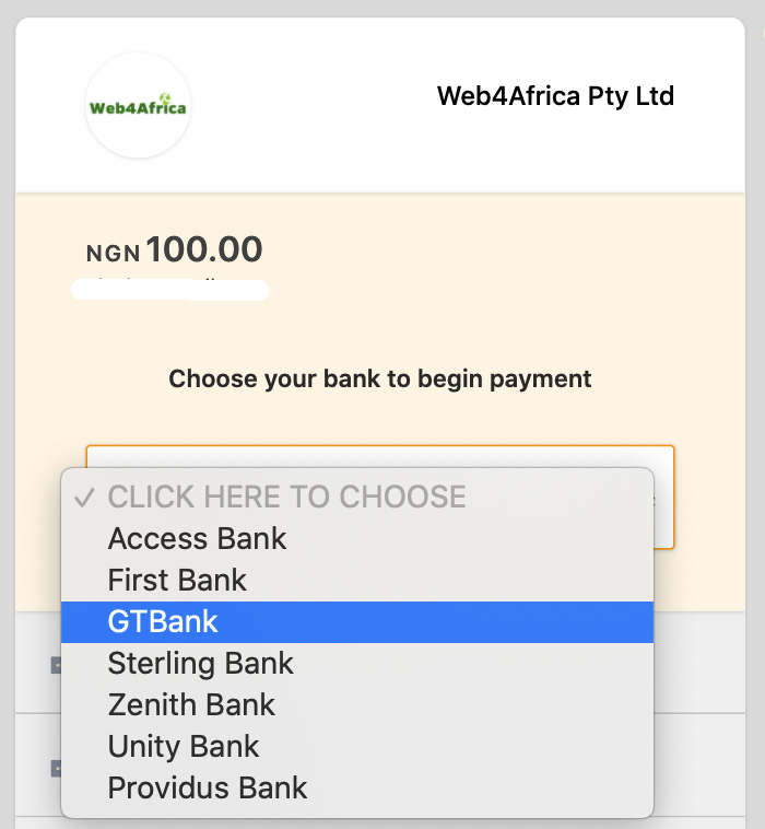 Pay with bank
