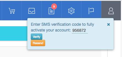 Web4Africa SMS Verification