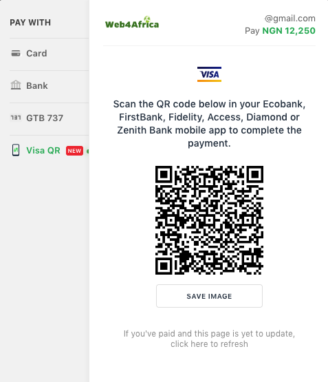 Payment with Visa QR in Nigeria