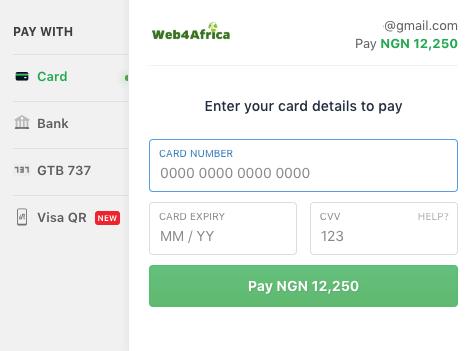 Buy Web Hosting and Domains. Pay with Naira Visa, Naira Mastercard or Verve cards.