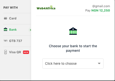 Pay online from Internet Banking in Nigeria