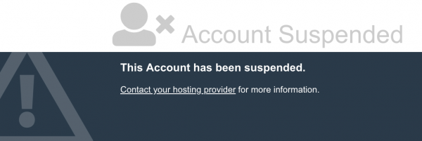 Reasons a Web Hosting account could be suspended by Web4Africa